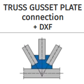 TRUSS GUSSET PLATE connection+DXF