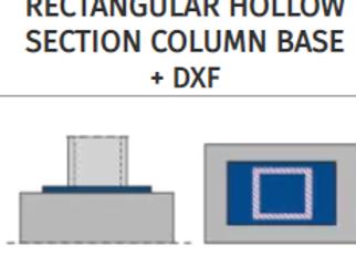 RECTANGULAR HOLLOW SECTION COLUMN BASE+DXF