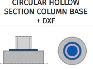 CIRCULAR HOLLOW SECTION COLUMN BASE+DXF