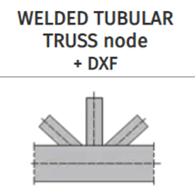 WELDED TUBULAR TRUSS connection+DXF
