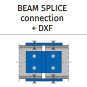 BEAM SPLICE connection+DXF