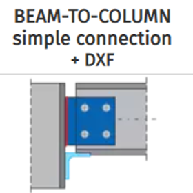 BEAM-TO-COLUMN simple connection+DXF