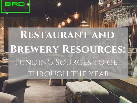 Restaurant and Brewery Resources: Funding Sources to get through the Year
