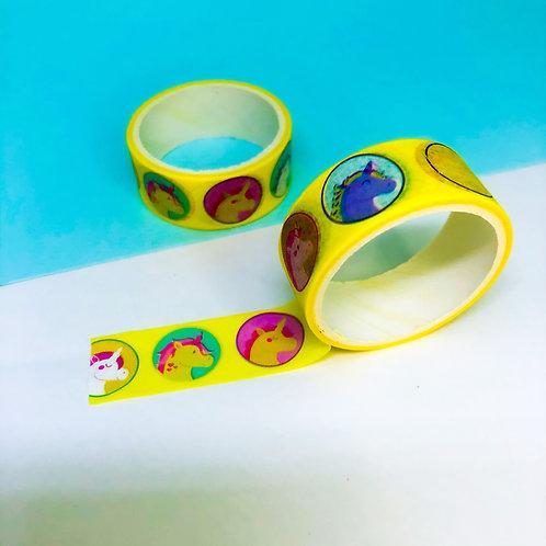 Washi Tape Unicórnio amarelo
