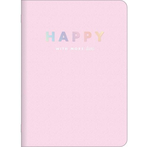 Caderno Grampeado A5 -Happy