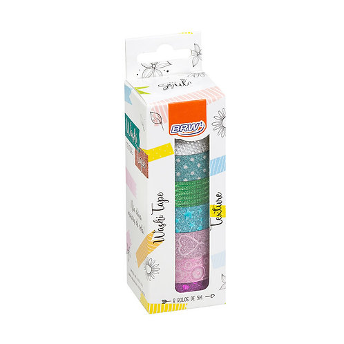 Washi tape - textures - 15mmx5m - caixa c/ 8un
