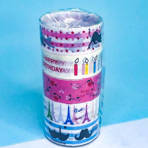 Kit Washi Tape - com 5! - várias estampas