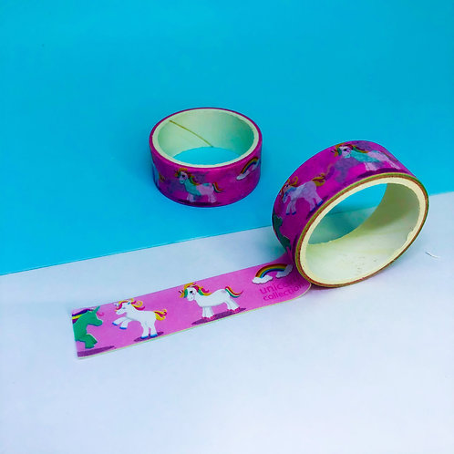 Washi Tape Unicórnio Rosa