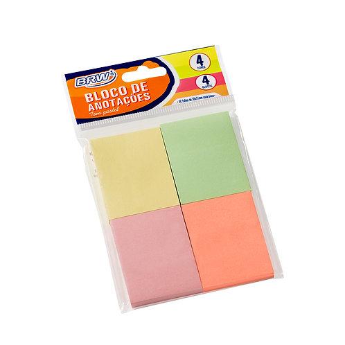 Conjunto 4 blocos adesivos tom pastel