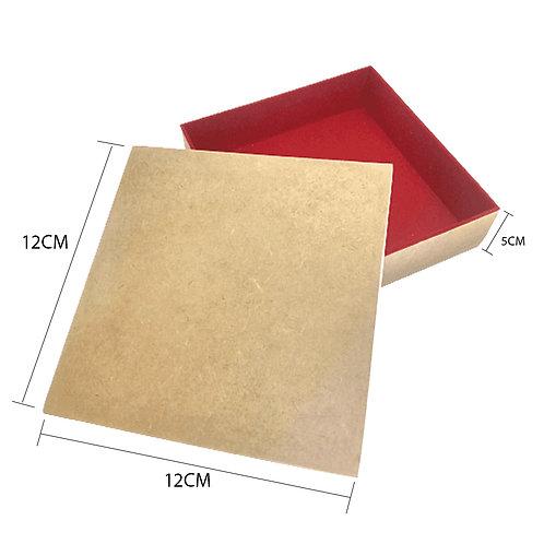 Caixa de Presente   12x12x5   Interior aveludado