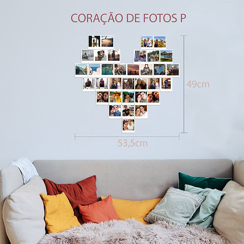 Coração de Polaroids - P