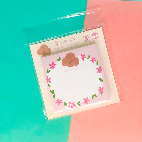 Bloco adesivo Doguinho floral