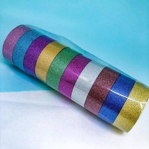Washi Tape com glitter - com 10