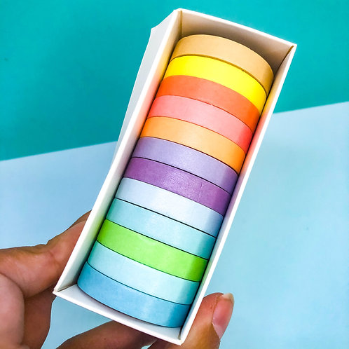 12 washi tapes color