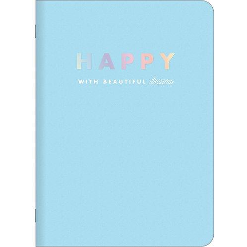 Caderneta Grampeada A6 -Happy