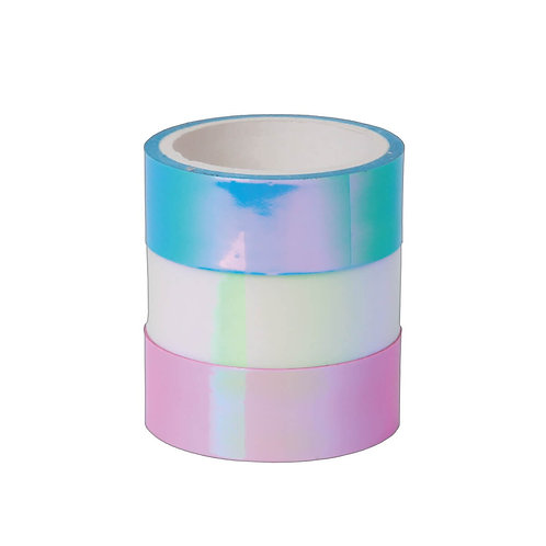 Washi tape holográfica -3 unidades