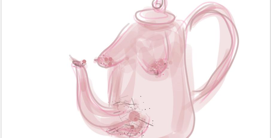 Teapot II  2019  Digital drawing