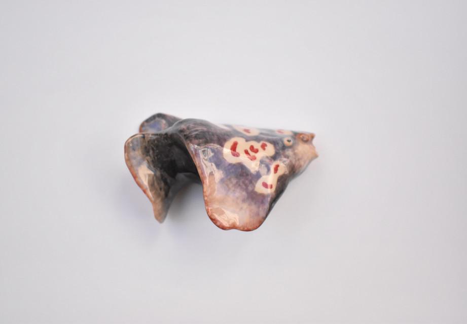Gorgon VIII  2020  Stoneware clay, ceramic stains, ceramic glaze 11.5x7x6 cm