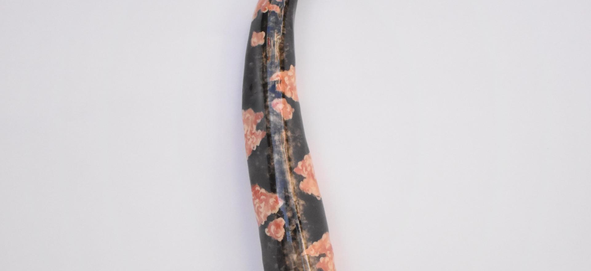 Gorgon VII  2020  Stoneware clay, ceramic stains, glaze 37x7x8 cm