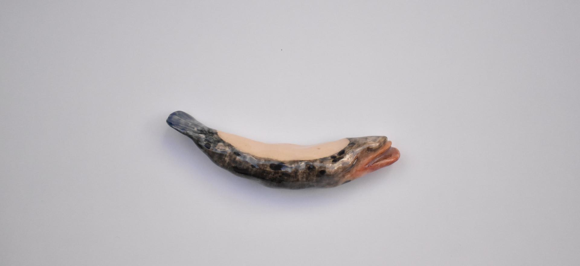 Gorgon IV  2020  Stoneware clay, ceramic stains, ceramic glaze 12x2.5x2 cm