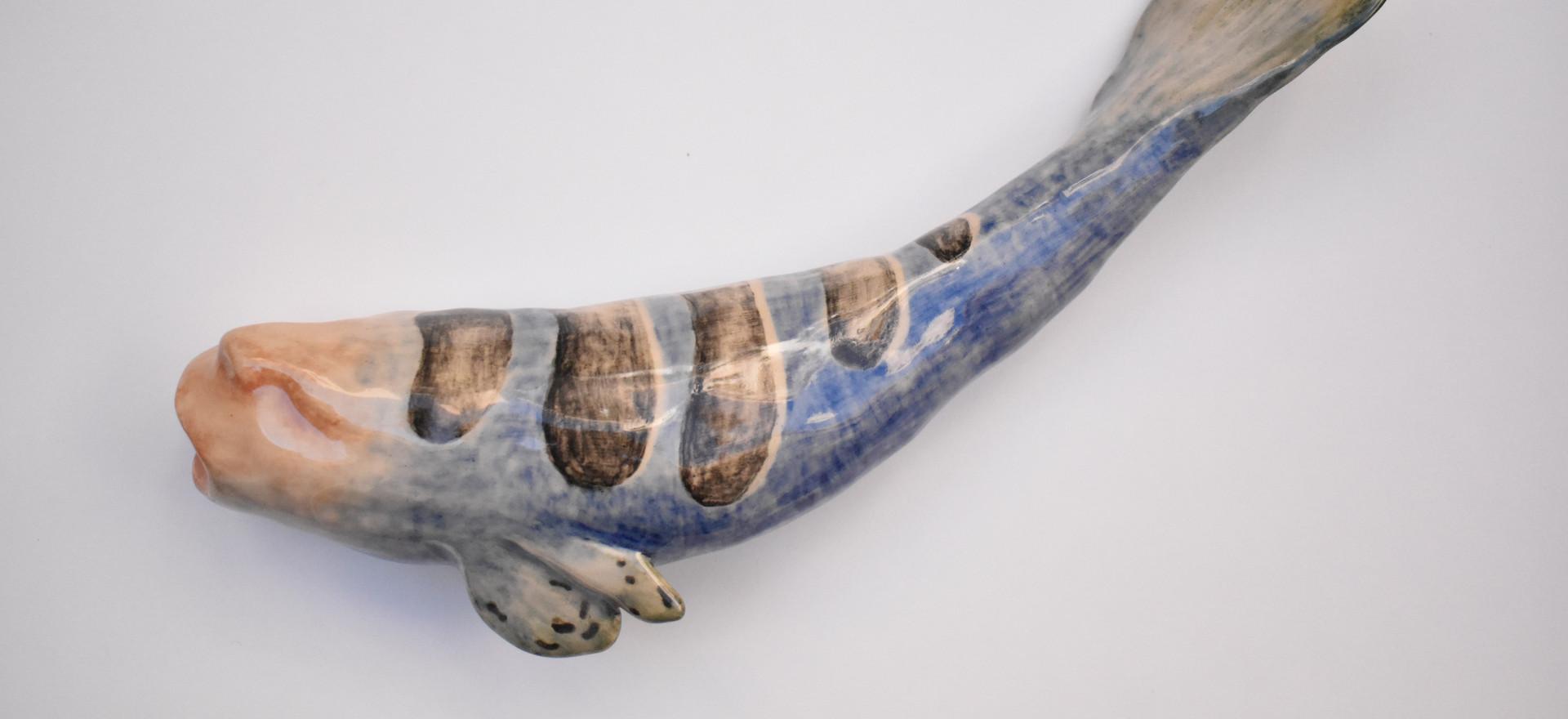 Gorgon V  2020  Stoneware clay, ceramic stains, glaze 24x7x6 cm
