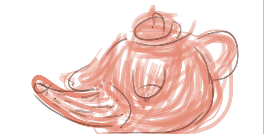 Teapot III  2019  Digital drawing
