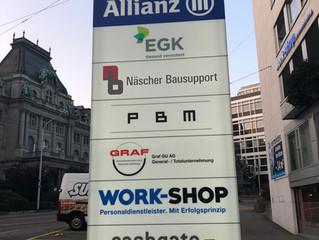 Wir sind umgezogen, unsere neue Adresse: oberer Graben 16, 9000 St. Gallen