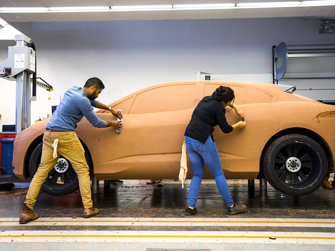 Sculpting the clay I-PACE