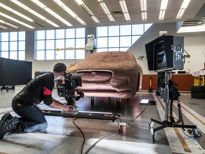 Filming clay I-PACE