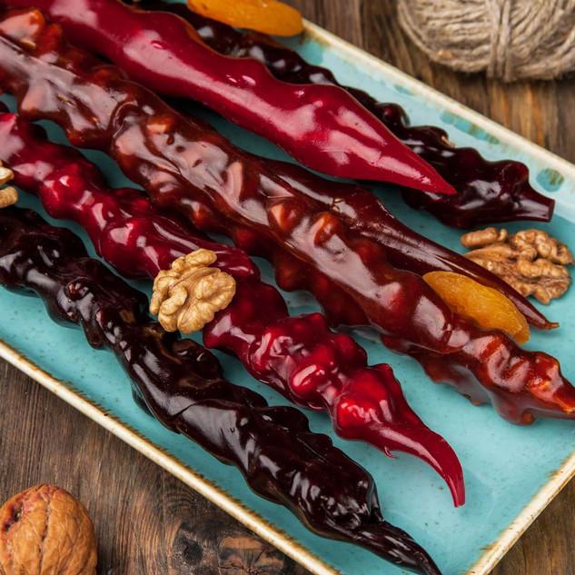 Les churchhela, ou comment réutiliser le jus de la vigne... Réduit et associé à un autre produit phare: la noix.
