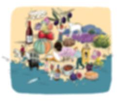 Carte Gastronomique de la Provence