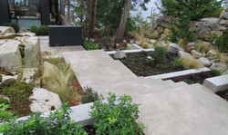 Contemporary Coastal Entrance Garden