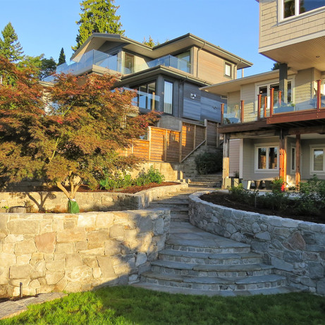 Curved Terraces in West Vancouver
