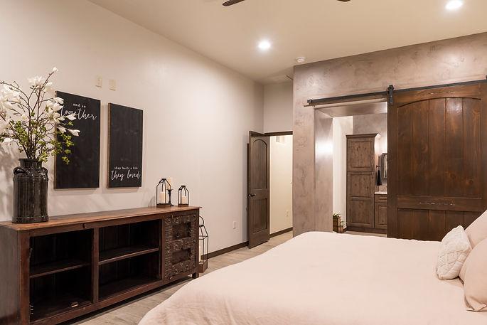 Master Retreat of an Award-Winning Modern Desert Model located at 1031 Corte Aguila, Las Cruces, NM 88011