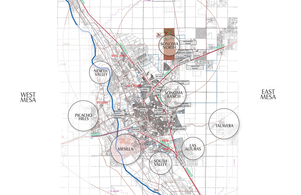 LAS CRUCES  AREAS  and AREAS and COMMUNITIES MAP 00.png