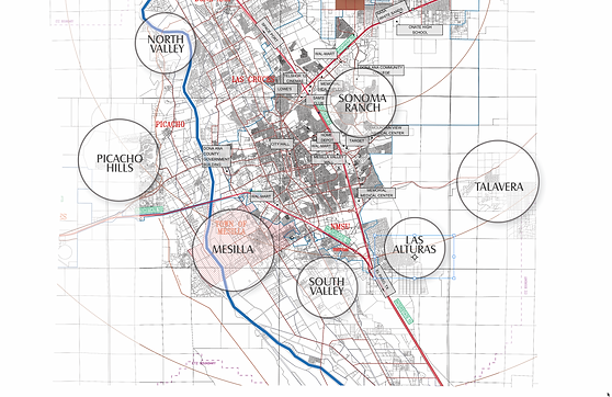 Map of Las Cruces Areas.png