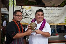 This chef took home the trophy for Best Onion Recipe.  His dish was a shrimp and lobster cake with onion sauce.
