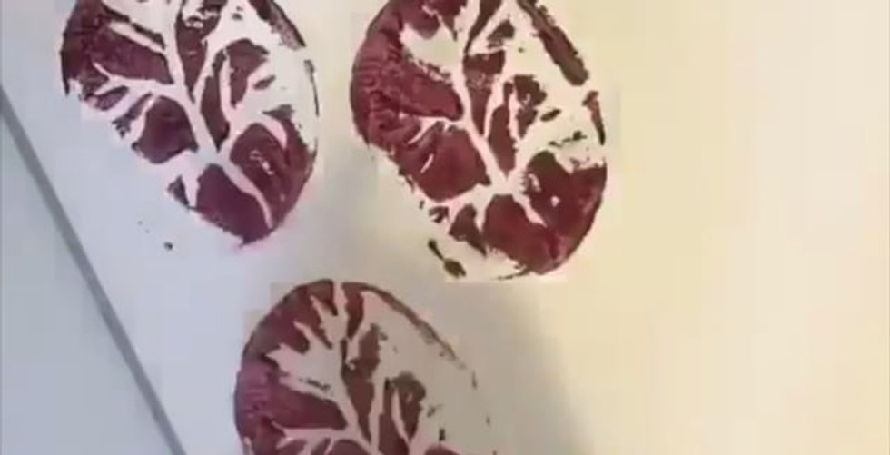 Potato printing