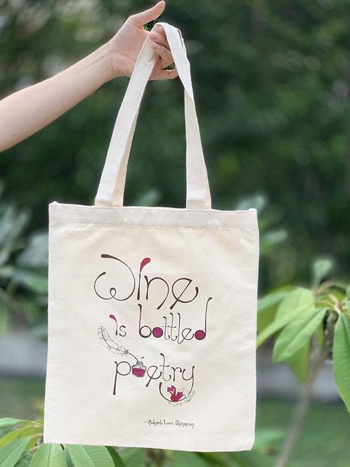 Wine is bottled poetry Tote bag