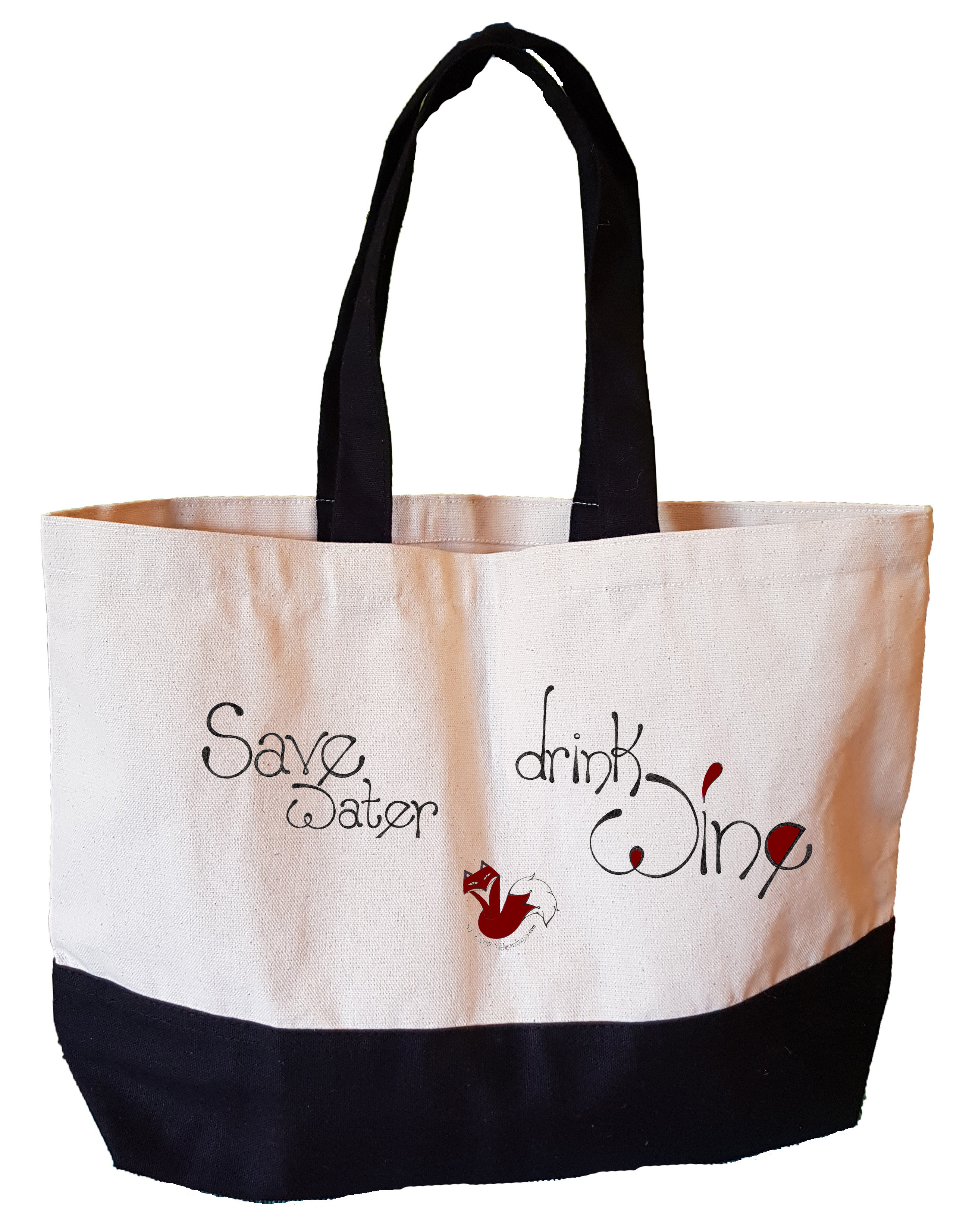 Drink Wine Canvas Wine Bag Details about  /Save Water
