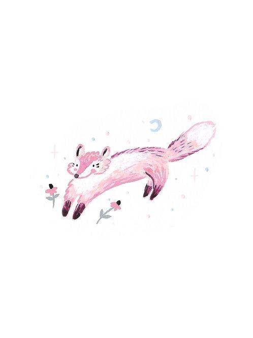 Jumping Pink Fox