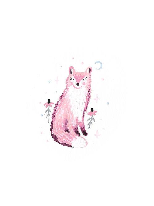 Sitting Pink Fox