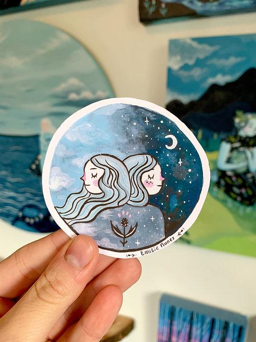 Best Friend Blue Sticker