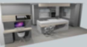 Modern 3D kitchen design