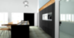 Monochrome 3D kitchen design