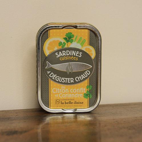 Sardines au citron confit et coriandre