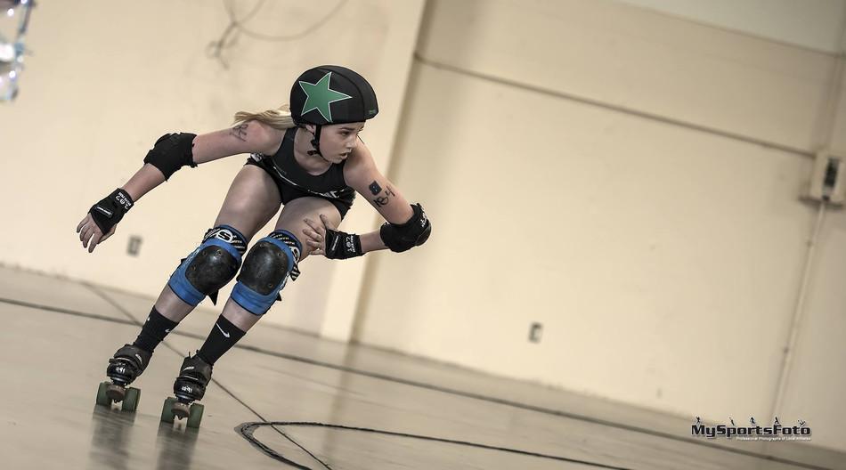 Jammer Ruby Slip-Her racing around the t