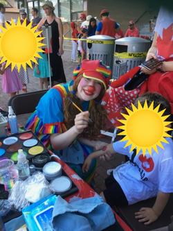 Rainbow Clown on Canada Day
