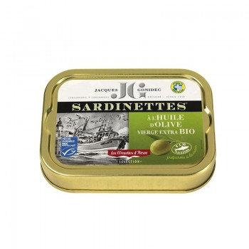 Sardinettes à l'huile d'olive vierge BIO  - 100g