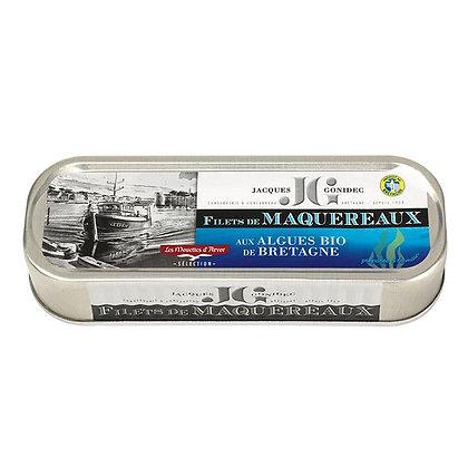 Filets de maquereaux aux algues BIO de Bretagne - 176g